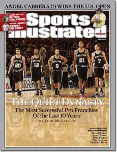 Sports Illustrated cover announcing San Antonio Spurs as Most Successful Franchise of the Last 10 Years on June 25, 2012(Photo: Sports Illustrated)